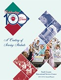2013-14 Annual Report Cover: A Centure of Serving Students