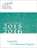 2015-16 Annual report cover: Leadership through Innovative Programs